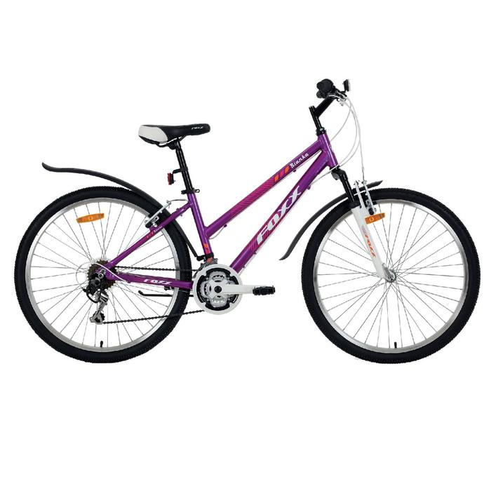 """Велосипед 26"""" Foxx Bianka, 2018, цвет фиолетовый/оранжевый, размер 15"""""""
