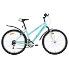 """Велосипед 26"""" Foxx Salsa, 2018, цвет бирюзовый/белый, размер 15"""""""
