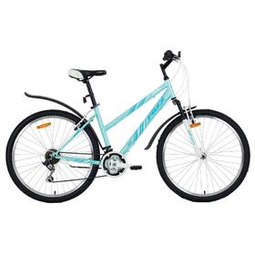 """Велосипед 26"""" Foxx Salsa, 2018, цвет бирюзовый/белый, размер 17"""""""