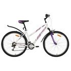 """Велосипед 26"""" Foxx Salsa, 2018, цвет белый/фиолетовый, размер 15"""""""