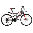 """Велосипед 26"""" Foxx Freelander D, 2018, цвет серый/красный, размер 18"""""""