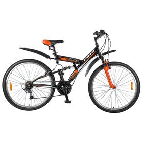 """Велосипед 26"""" Foxx Attack, 2018, цвет черный/оранжевый, размер 20"""""""