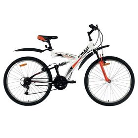 """Велосипед 26"""" Foxx Attack, 2018, цвет белый/оранжевый, размер 20"""""""