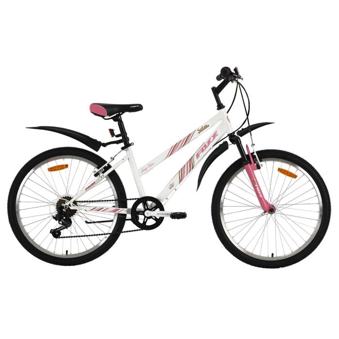 """Велосипед 24"""" Foxx Salsa, 2018, цвет белый/розовый, размер 14"""""""