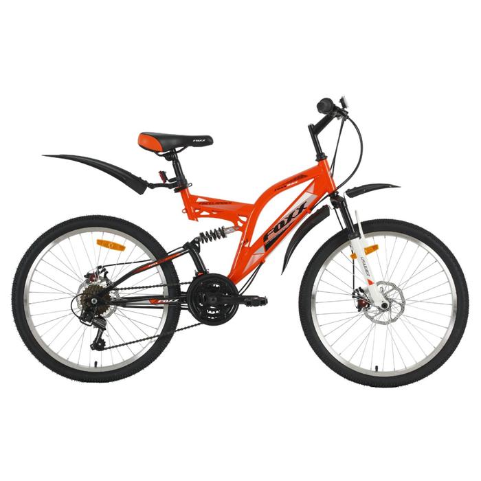"""Велосипед 24"""" Foxx Freelander D, 2018, цвет оранжевый/белый, размер 14"""""""