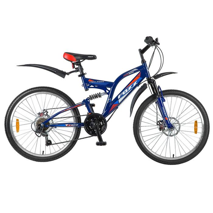 """Велосипед 24"""" Foxx Freelander D, 2018, цвет синий/оранжевый, размер 14"""""""