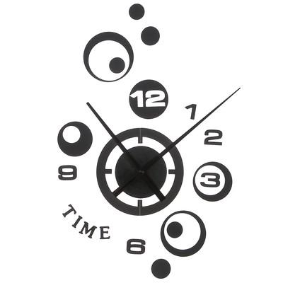 """Часы настенные, серия: Интерьер, """"Сферы времени"""", черные, 33х42 см"""