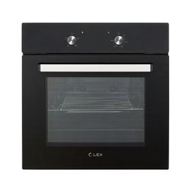 Духовой шкаф Lex EDM 040 BL, 62 л, 4 функции, черное стекло