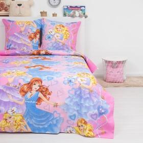 Детское постельное бельё ДайПоспать «Принцессы», 147х217 см, 150х220 см, 70х70 см - 2шт