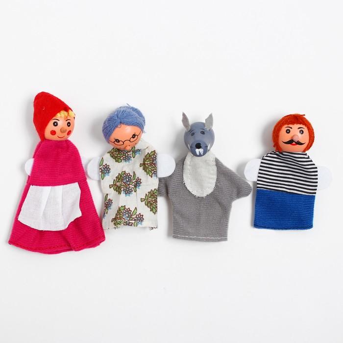 "Кукольный театр ""Красная шапочка"", набор 4 шт."