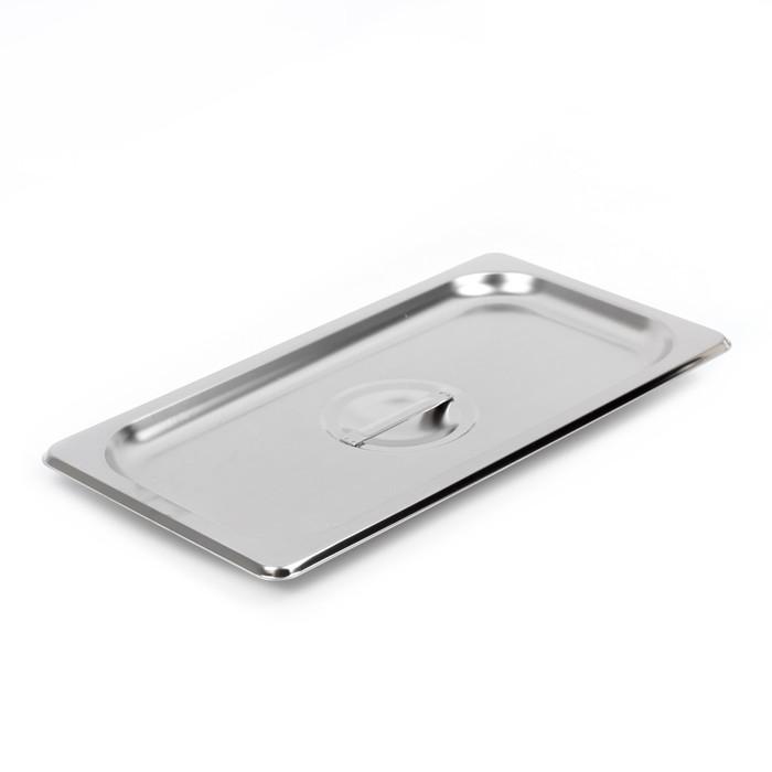 Крышка к гастроёмкости, 1/3, 32,5×17,6×1,5 см, толщина 0,8 мм