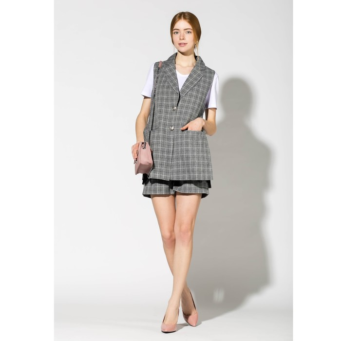 Костюм (жакет, шорты) женский 177 цвет серый, р-р 42
