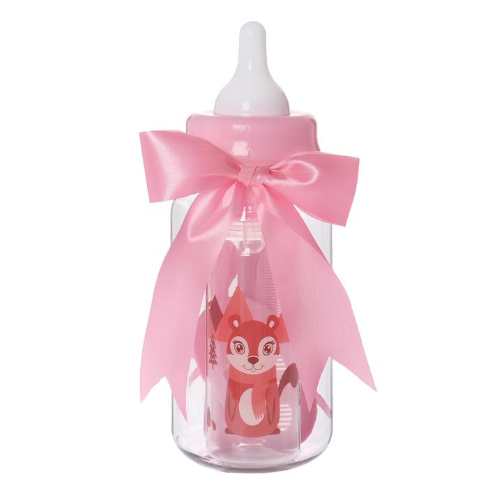 Набор детский «Первый подарок малышу», 6 предметов: бутылочка для кормления 250 мл, прорезыватель, ложка, вилка, расчёска, щётка, в подарочной упаковке