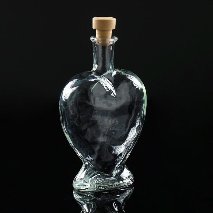 """Ваза-бутылка декоративная """"Сердце"""""""