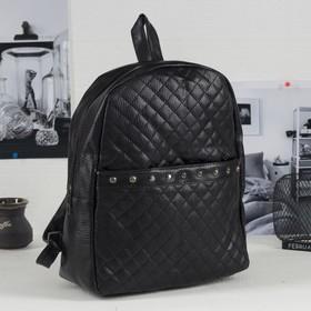 Рюкзак молод Стежка, 27*11*33, отдел на молнии, н/карман, черный Ош