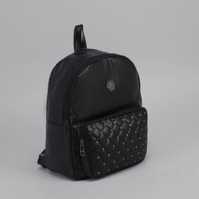 Рюкзак молод Амели, 27*14*32, отдел на молнии, н/карман, черный Ош