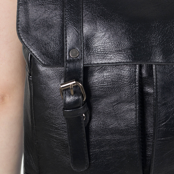 Рюкзак молодёжный, отдел на молнии, 4 наружных кармана, цвет чёрный - фото 448849750