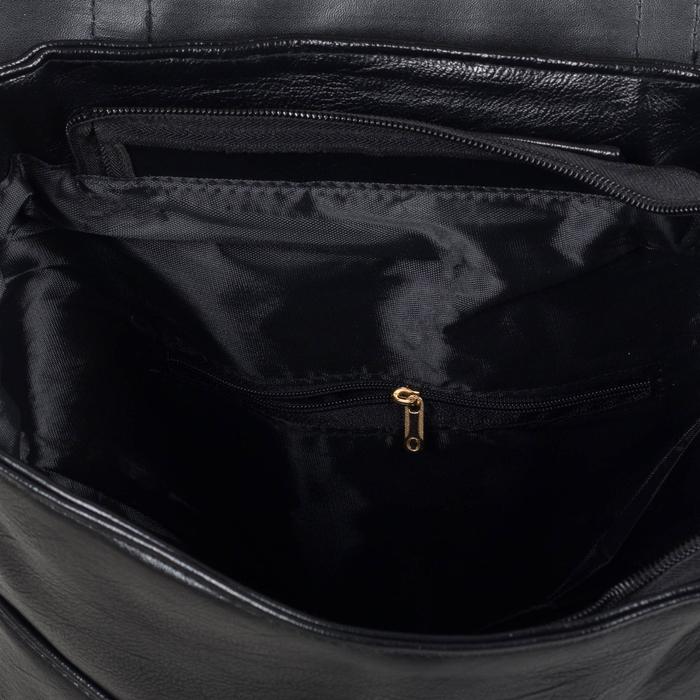 Рюкзак молодёжный, отдел на молнии, 4 наружных кармана, цвет чёрный - фото 448849746