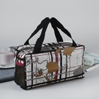 Косметичка-сумочка «Карта», отдел на молнии, ручки, цвет серый