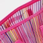 Косметичка ПВХ, отдел на молнии, 2 ручки, цвет малиновый - фото 1769728