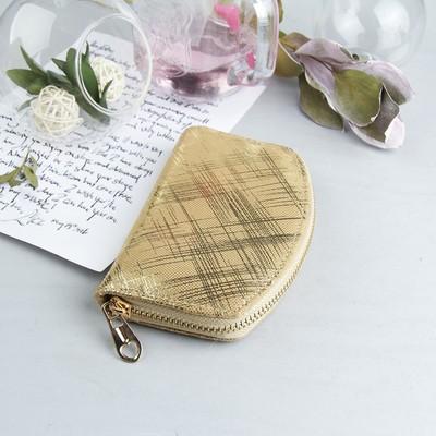 Purse women's, division 2 with zipper, color: Golden