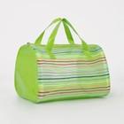Косметичка ПВХ, отдел на молнии, 2 ручки, цвет зелёный