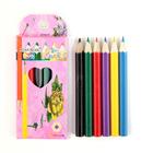 Карандаши 6 цветов МИНИ, в картонной коробке, заточенные МИКС