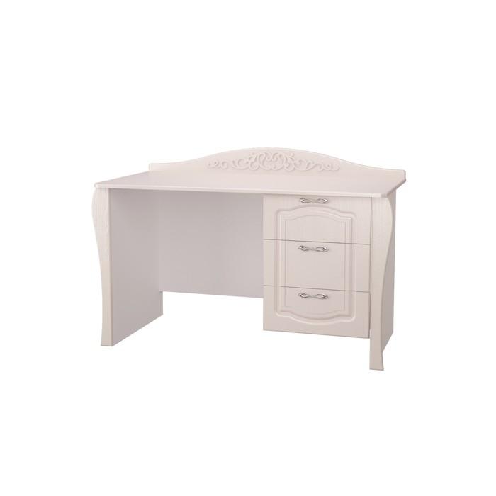 Стол письменный Виола-2, 1297х600х873, Белый/Ясень жемчужный