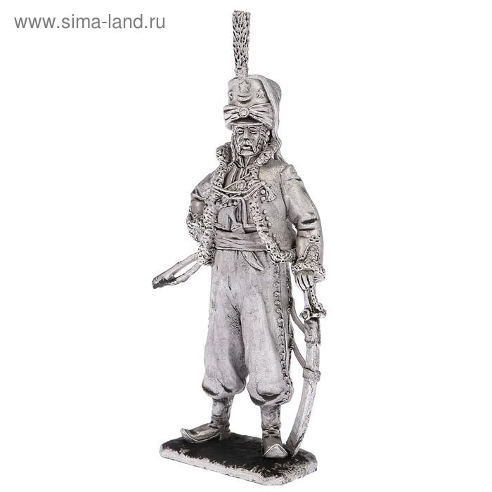 """Оловянный солдатик """"Офицер эскадрона литовских татар императорской гвардии 1812"""""""