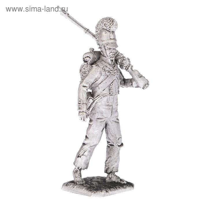 """Оловянный солдатик """"фузелер баварской линейной пехоты 1812 год"""""""