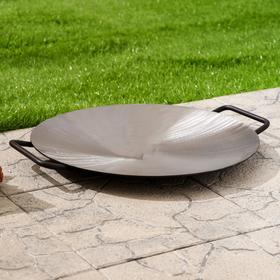 Садж сковорода без бортов, d - 40 см, сталь 3 мм