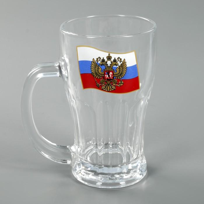 """Кружка для пива 450 мл """"Герб на флаге"""""""