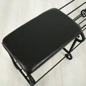 Обувница 2-х ярусная с сиденьем «Новый Стандарт», 90×32×40 см, цвет МИКС - фото 4643036
