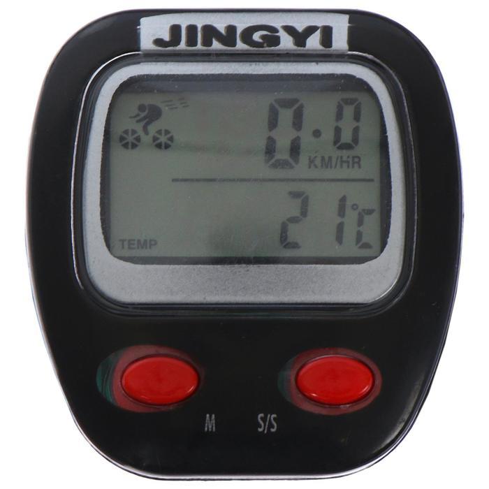 Велокомпьютер проводной, 9 функций JY-105, цвет чёрный