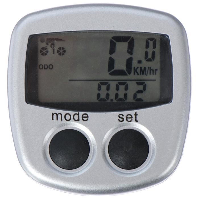 Велокомпьютер проводной, 13 функций JY-116, цвет серый