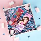 """Тени детские для девочек """"Секрет красоты"""" 5 цветов по 1,5 грамма, аромат шоколада"""