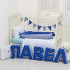 """Мягкая буква подушка """"П"""" 35х26 см, синий, 100% хлопок, холлофайбер - фото 105554459"""