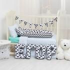 """Мягкая буква подушка """"Г"""" 35х21 см, белый, 100% хлопок, холлофайбер - фото 105554450"""