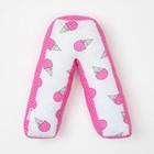 "Мягкая буква подушка ""Л"" 35х35 см, розовый, 100% хлопок, холлофайбер"