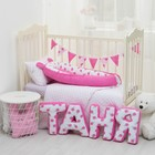"Мягкая буква подушка ""Т"" 35х29 см, розовый, 100% хлопок, холлофайбер - фото 105554477"