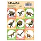 "Stickers with coloring on the back of the ""Dinosaurs"", 11 x 16 cm"