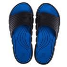 Сланцы арт. EVAlution-W/2-BDB, цвет чёрный/синий, размер 37