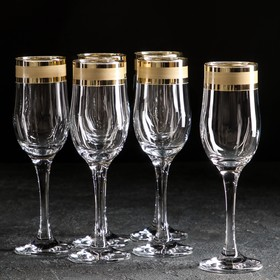 Набор бокалов для шампанского «Ампир», 200 мл, 6 шт