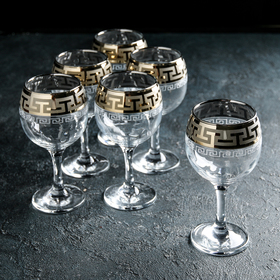 """Набор фужеров для вина 260 мл """"Греческий узор"""", 6 шт"""