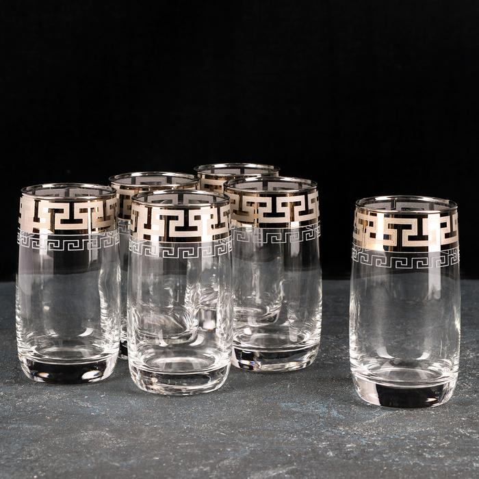 """Набор стаканов для сока 330 мл """"Греческий узор"""", 6 шт"""