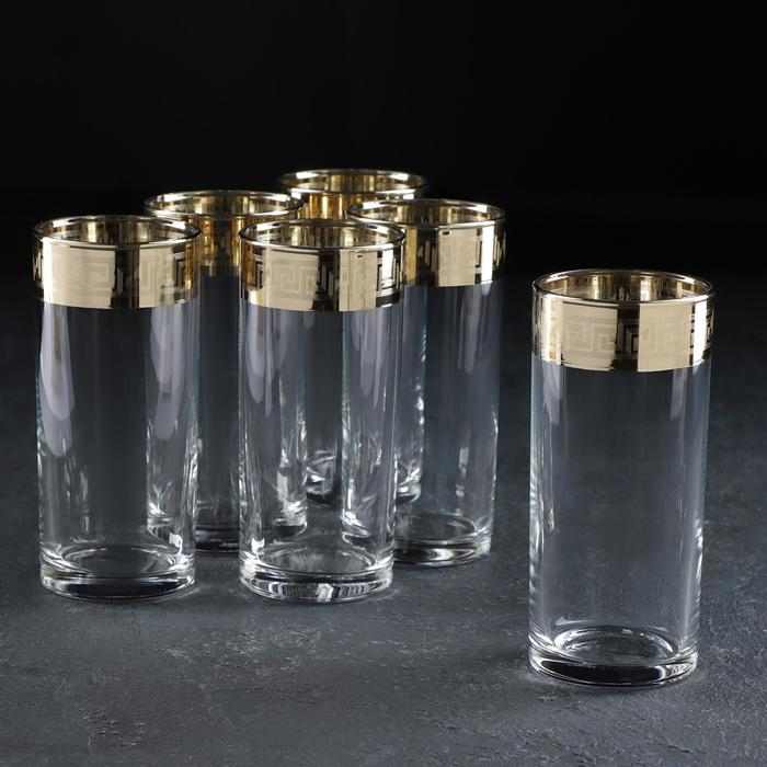 "Набор стаканов для сока 290 мл ""Версаче Голд"", 6 шт"