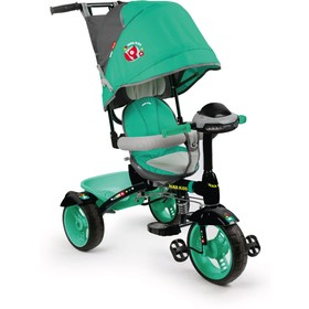 """Велосипед трёхколёсный Nika ВД4М, колёса EVA 10""""/8"""", цвет изумрудный"""