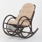 Кресло-качалка, с подушкой, ротанг, цвет тёмно-коньячный, 05/04А TS