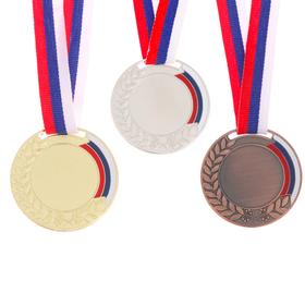 """Медаль """"Лавры"""" под нанесение диам 5 см, серебро"""