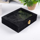 """Velvet box for cufflinks """"Black night"""" 5х20х15 cm"""